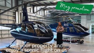 Read more about the article Get a free helicopter flight when you sell your property with licensed salesperson from Waikato Real Estate, Ksenia.