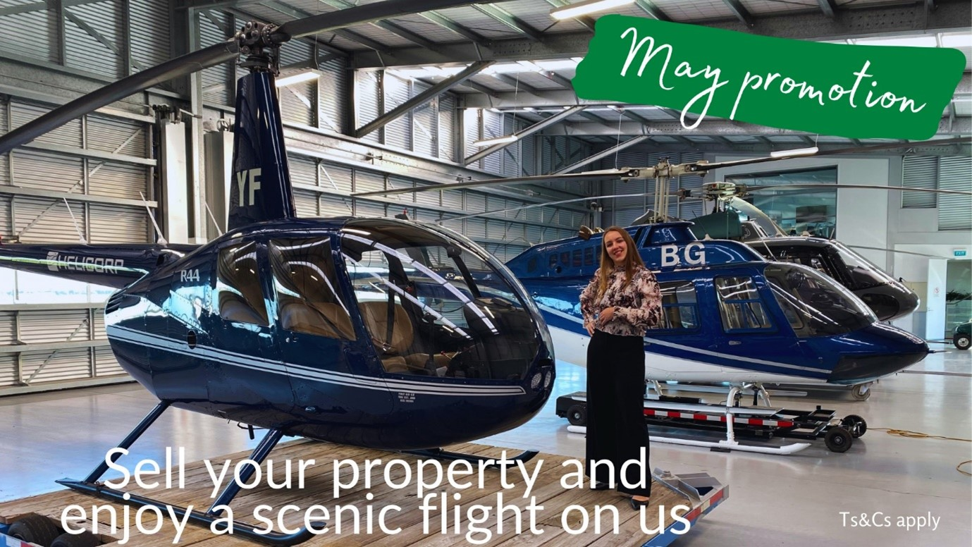 Get a free helicopter flight when you sell your property with licensed salesperson from Waikato Real Estate, Ksenia.