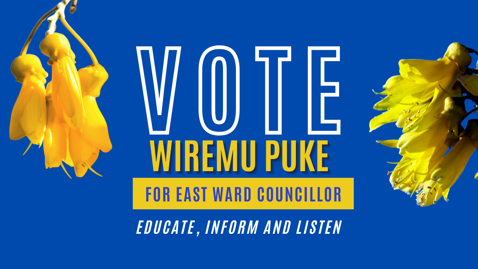 You are currently viewing Candidate Wiremu Puke wants to be your East Ward councillor.